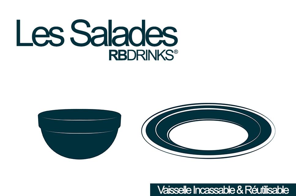 Saladiers et assietes incassables - Vaisselle incassable RBDRINKS®