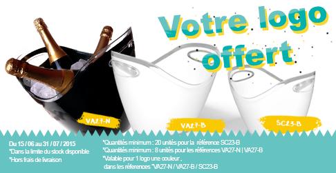 La personnalisation est offerte pour l'achat de nos seaux et vasques!