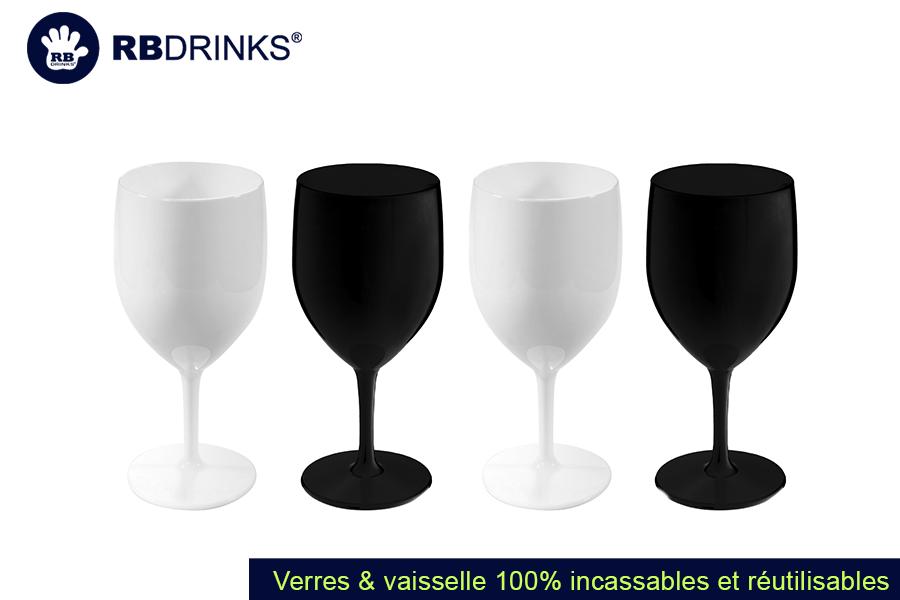 Verre à Pied Noir & Blanc | RBDRINKS®