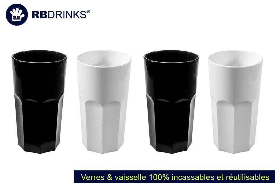 Verre Rétro Noir & Blanc | RBDRINKS®