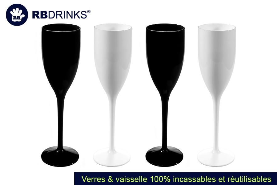 Flûte à champagne Noir & Blanc | RBDRINKS®