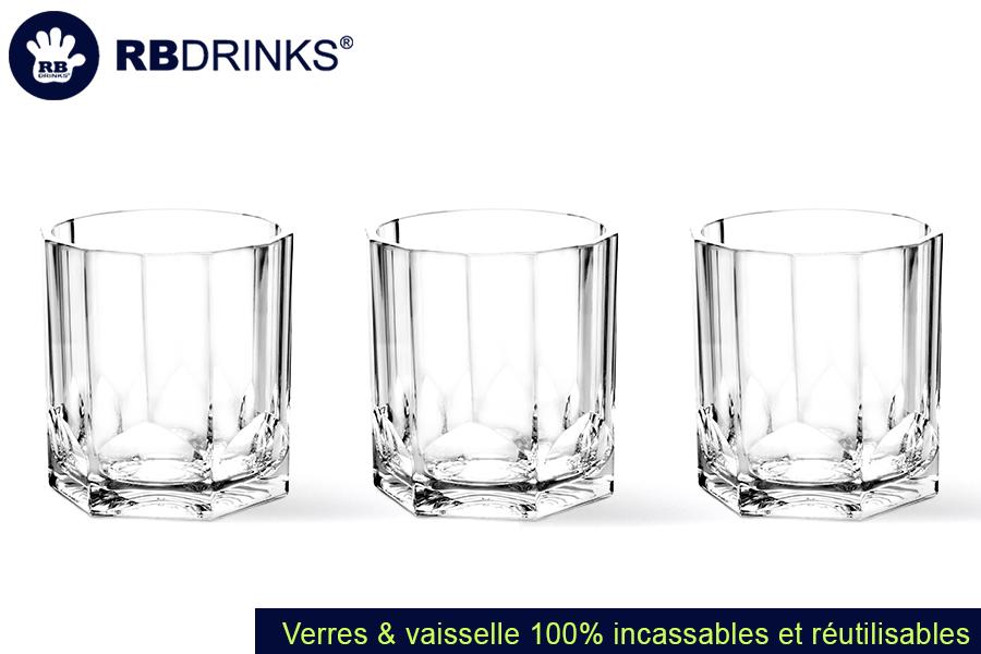 Verre à Whisky Incassable et Réutilisable | RBDRINKS®