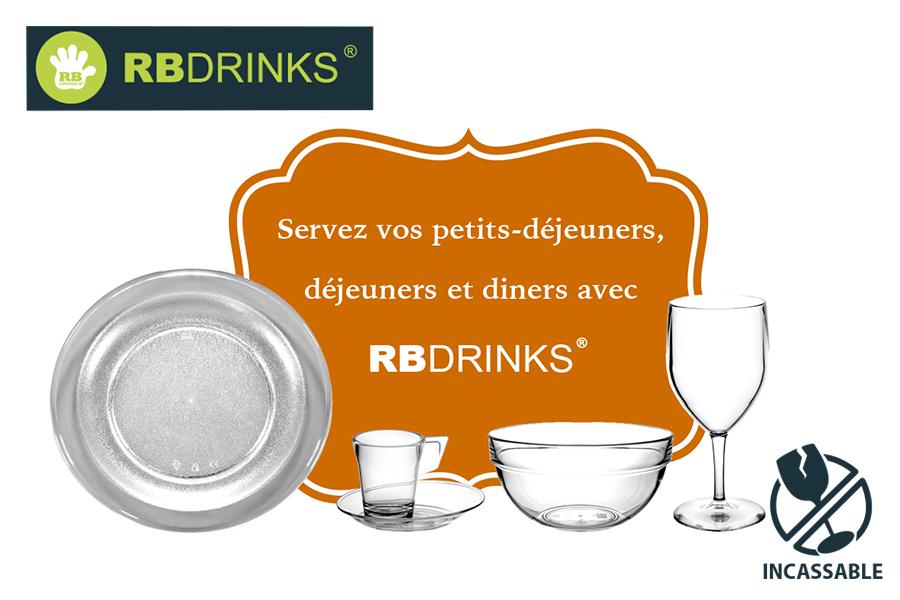 Servez vos petits déjeuners, déjeuners et diners avec RBDRINKS® !