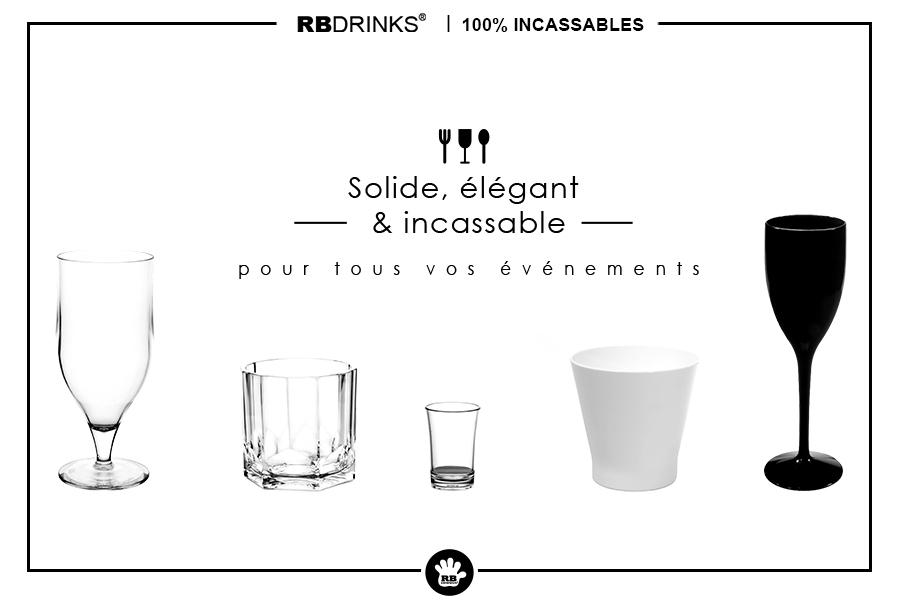 Verres & Vaisselle incassables pour catering!