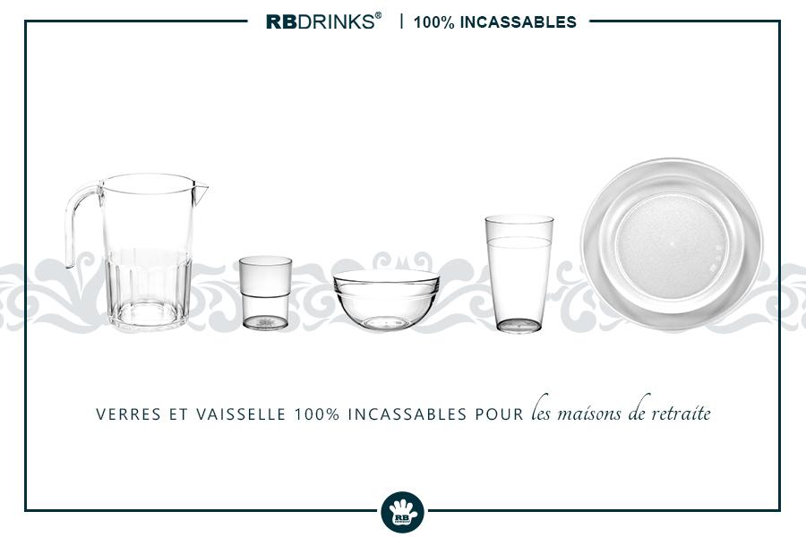 Verres & Vaisselle 100% incassables pour les maisons de retraite
