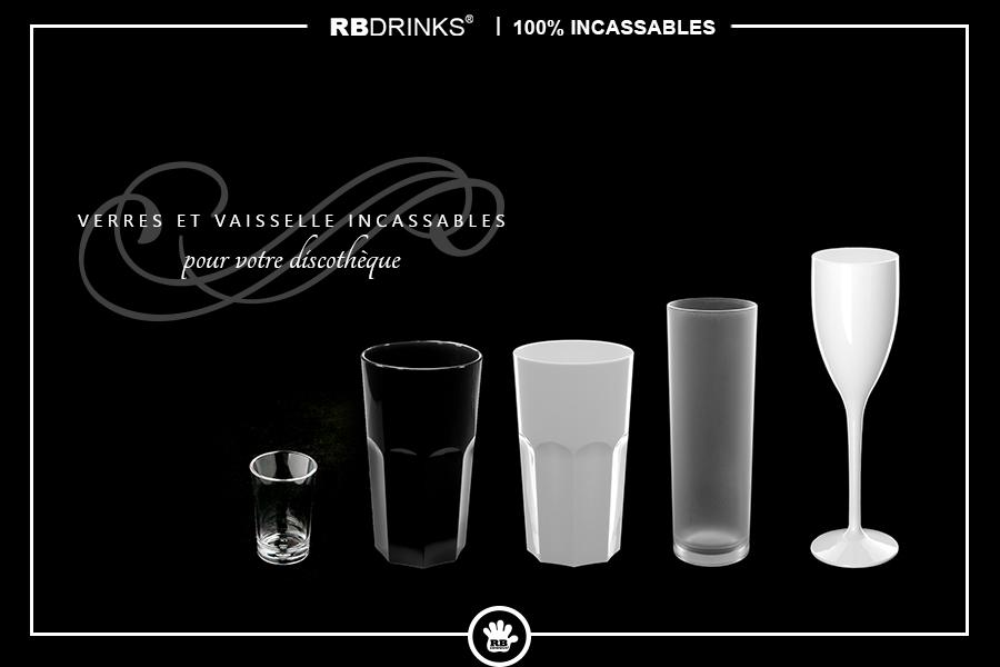 Verres & Vaisselle incassables pour votre discothèque