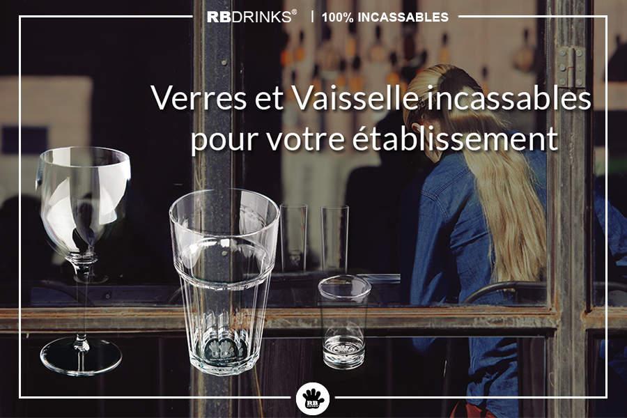 Verres & Vaisselle incassables pour cafés & bars!