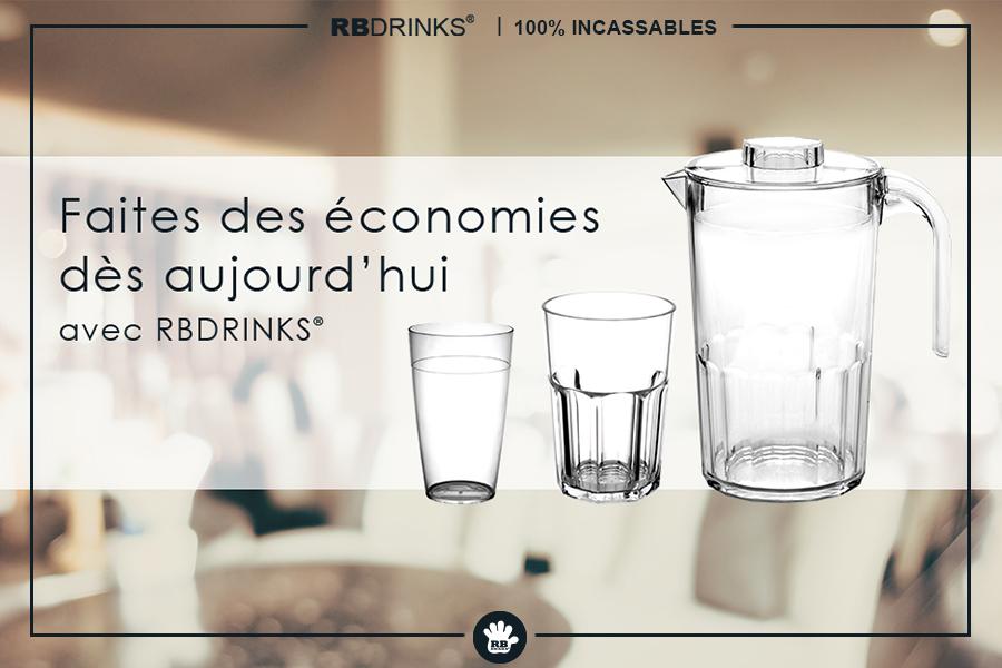 Verres et Vaisselle économiques!