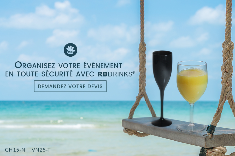 Des verres incassables pour votre festival à la plage !