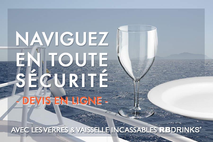 Vaisselle incassable pour bateaux et croisières