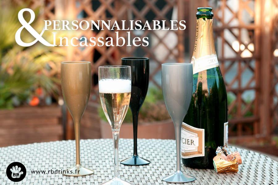 Flûtes à champagne incassables pour les fêtes de fin d'année !